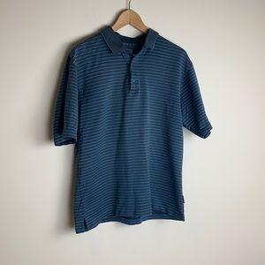 Nike Golf Dri Fit Polo Blue Shirt Size Medium